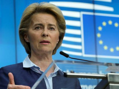 A presidente da Comissão Europeia, Ursula von der Leyen.