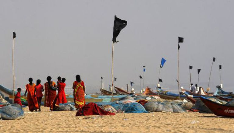 Homenagem aos mortos pelo tsunami de 2004 na Índia, na sexta-feira.