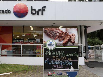 Mercado da BRF em São Paulo, em março.