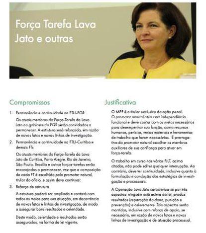 Em site, a futura procuradora-geral da República, Raquel Dodge, se compromete a manter investigadores da Lava Jato se eles quiserem