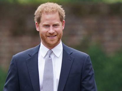 O príncipe Harry na comemoração do 60º aniversário de nascimento da princesa Diana, em 1º de julho, em Londres.