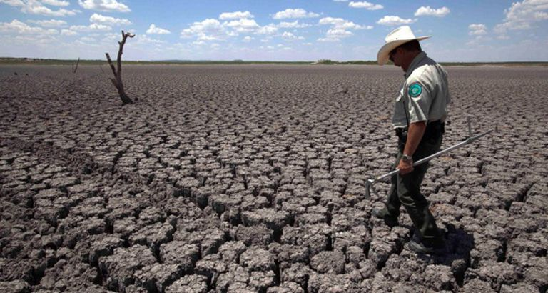 San Angelo (Texas), durante a seca de 2011.