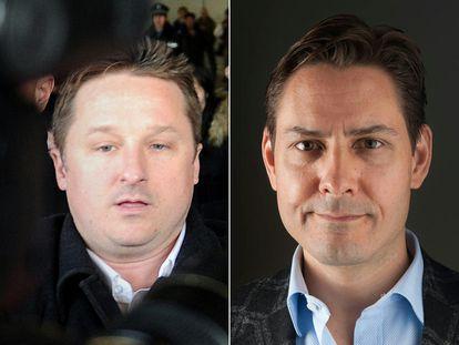 Os canadenses Michael Spavor (esquerda) e Michael Kovrig (direita).