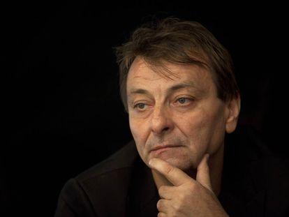 O italiano Cesare Battisti , em um evento no Rio de Janeiro em abril de 2012.