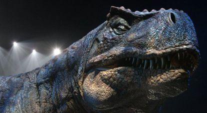 Um dos dinossauros de 'Jurassic World'.