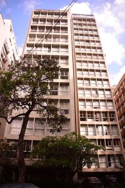 O edifício onde fica o apartamento de Ricardo Salles nos Jardins, em São Paulo.