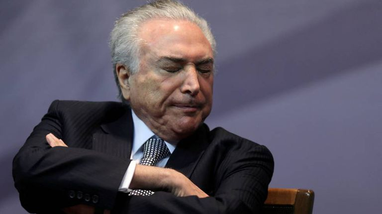 Temer durante evento em São Paulo, na segunda-feira.