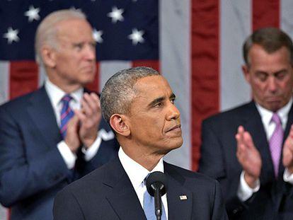 Obama durante o discurso.