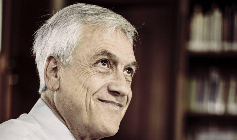 Sebastián Piñera na sede de sua campanha em Santiago do Chile.