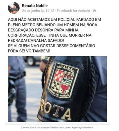 Renato Nobile disse à Ponte que o seu perfil no Facebook foi hackeado.
