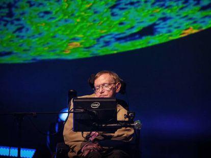 Hawking em Tenerife para participar do terceiro festival Starmus.
