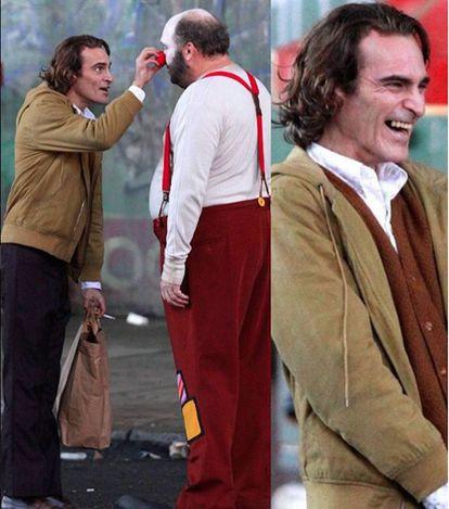Joaquin Phoenix caçado pelos paparazzi durante a gravação do filme.