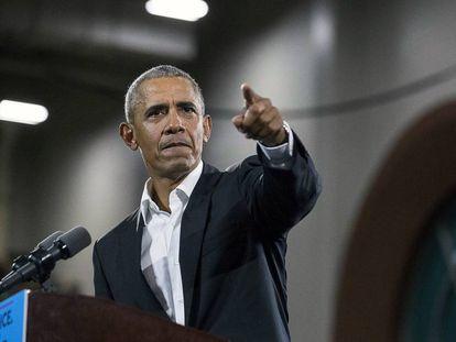 Obama, na sexta-feira, em um comício em Atlanta.