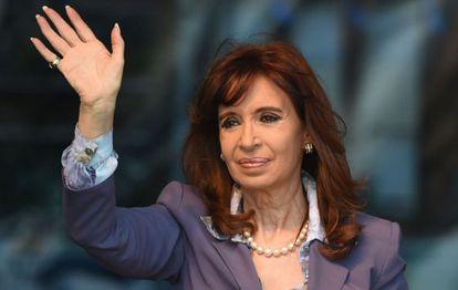 A presidenta argentina no último dia 25.
