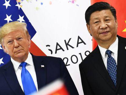 Trump e Xi Jinping, na cimeira do G20 em Osaka em junho