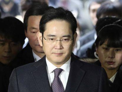O herdeiro da Samsung, Lee Jae-yong.