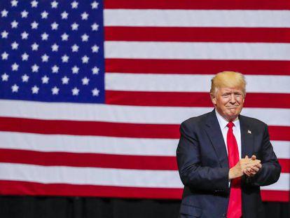 O presidente dos Estados Unidos, Donald Trump, durante um comício nesta semana.