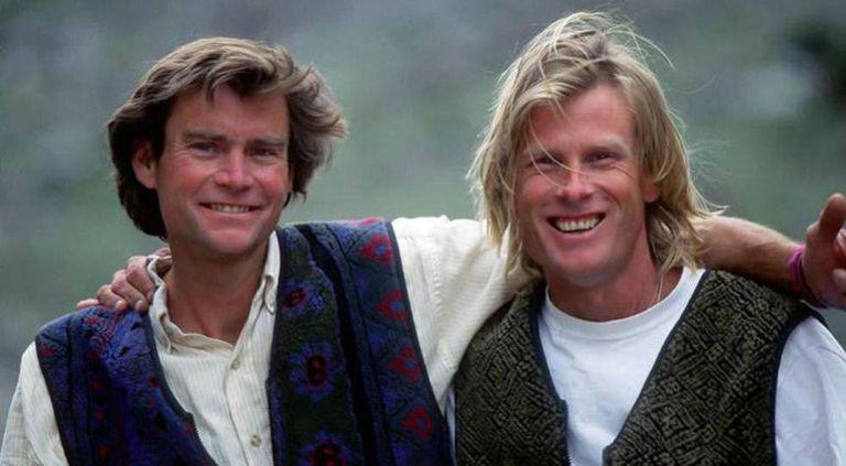 Alex Lowe (à esquerda) e Conrad Anker.