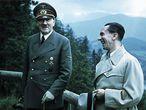 Hitler y Goebbels, en Berchtesgaden en 1943.