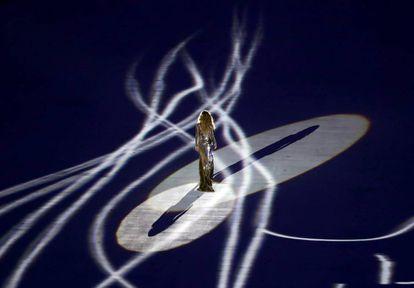 Gisele Bunchden na abertura das olimpiadas