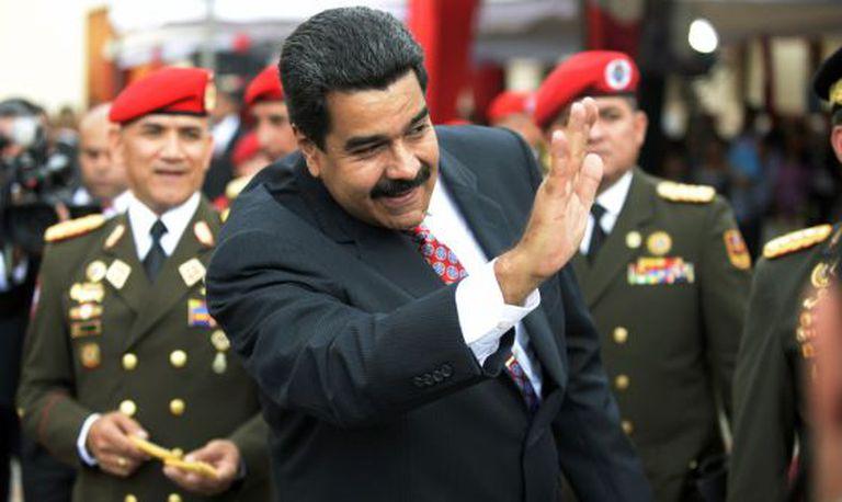 Maduro em um ato militar em Caracas em 1 de julho.