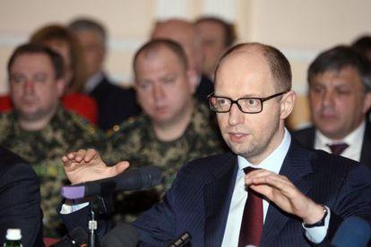 O primeiro-ministro ucraniano, Arseni Yatseniuk.