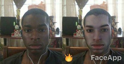 O efeito do filtro do FaceApp para se ver mais 'sexy'.