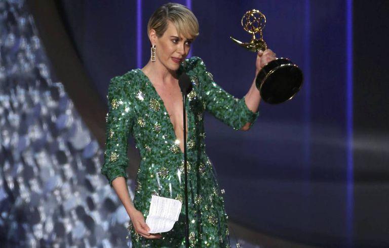 Sarah Paulson, ganhadora do Emmy por 'The People v. O.J. Simpson: American Crime Story'.