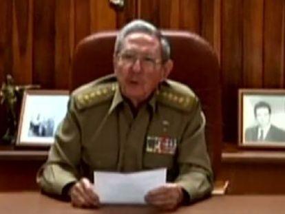Mensagem de Raúl Castro.