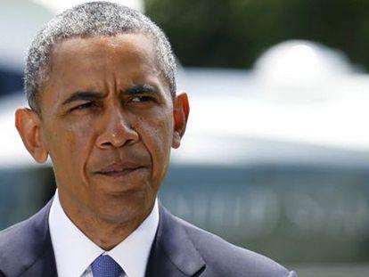 O presidente Obama durante reunião sobre a situação do Iraque.