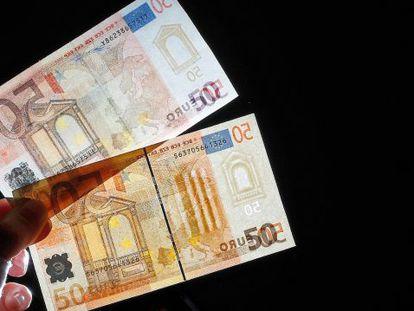 838.000 notas de euro falsas foram retiradas de circulação em 2014.