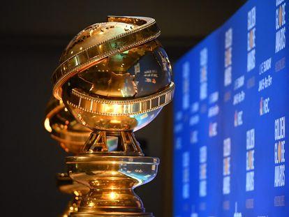 Troféus do Globo de Ouro, que serão entregues neste domingo, 28 de fevereiro, em uma cerimônia parcialmente presencial e virtual devido à pandemia.