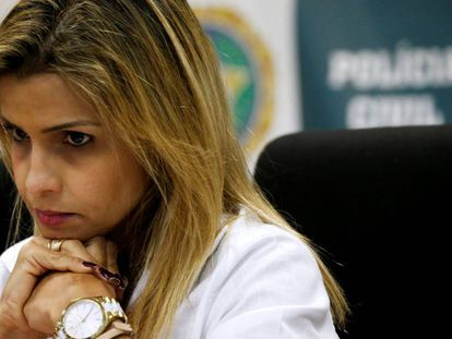 A delegada Cristiana Bento, nesta segunda no Rio.