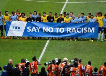 Campanha da FIFA contra o racismo na Copa das Confederações 2013.