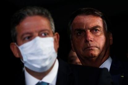 Arthur Lira e o presidente Jair Bolsonaro.