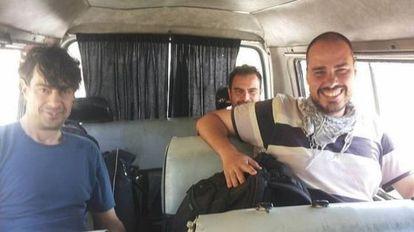 López, Sastre e Pampliega, na Síria.