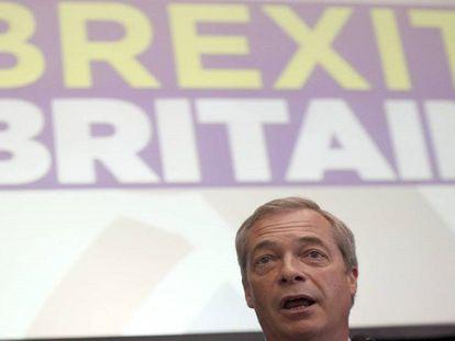 Nigel Farage, líder do UKIP, nesta segunda em Londres.