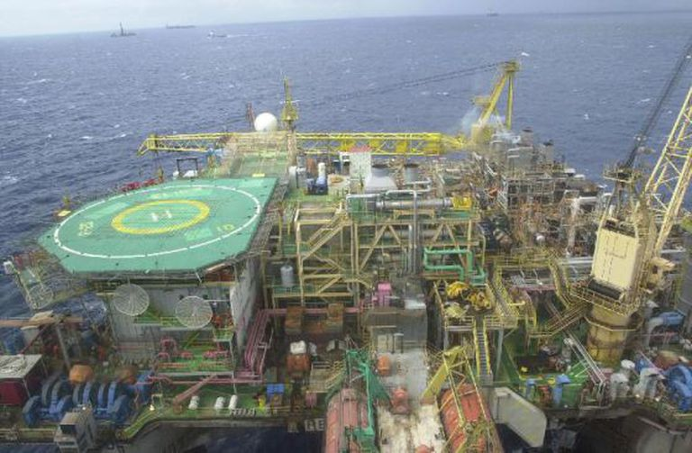 Plataforma de petróleo, em imagem de arquivo.