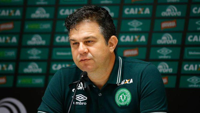 O diretor de comunicação do clube de futebol brasileiro Chapecoense, Andrei Copettti.