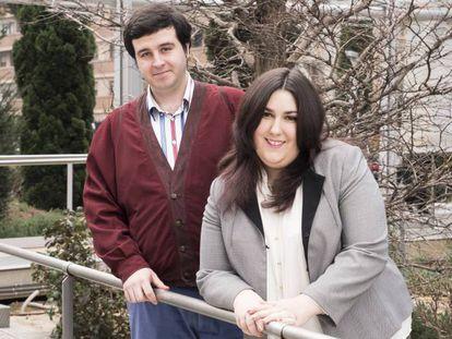 Díaz e sua companheira, Cristina Paredero.