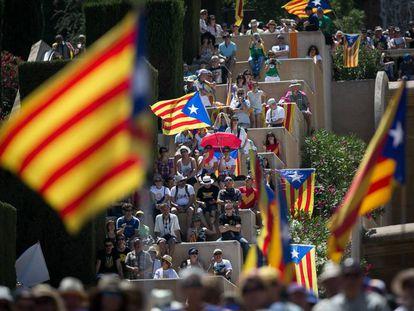 Ato em Barcelona no dia 11 de junho