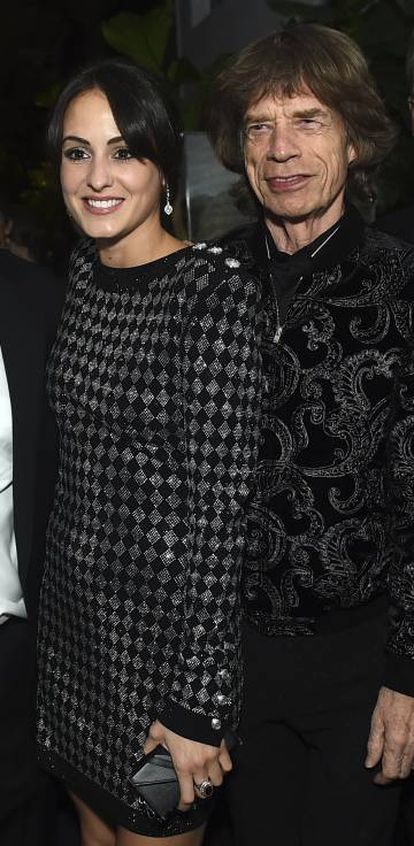Melanie Hamrick e Mick Jagger, em Los Angeles (EUA), em fevereiro.