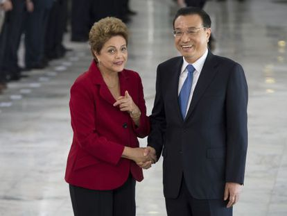Dilma e o premiê chinês Li Keqiang.