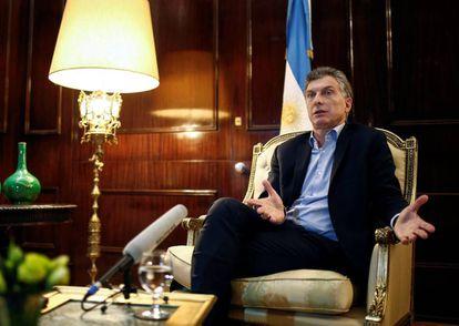 Mauricio Macri, em 8 de agosto.