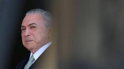 O presidente Michel Temer, no Palácio do Planalto.