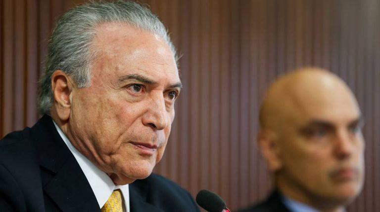 O presidente Temer e o ministro Moraes, no dia 17.