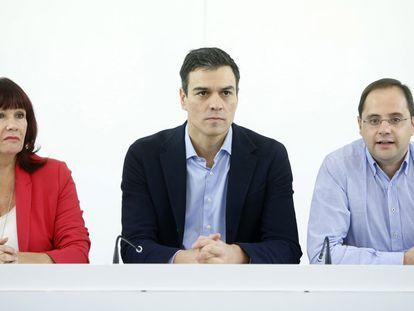 Pedro Sanchez na executiva de PSOE