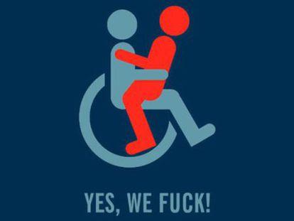Pôster promocional de 'Yes, we fuck!' o documentário espanhol que reivindica a sexualidade livre.