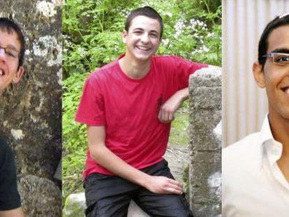 Os três jovens judeus: Naftali Fraenkel, Gilad Shaar e Eyal Yifrah.