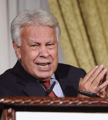 O ex-chefe do Governo espanhol Felipe González em janeiro.